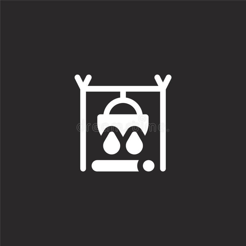 Ikone des gro?en Kessels Gefüllte Ikone des großen Kessels für Websiteentwurf und Mobile, Appentwicklung Ikone des großen Kessels lizenzfreie abbildung