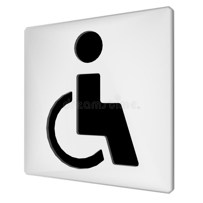 Ikone des Handikaps 3d lizenzfreie abbildung