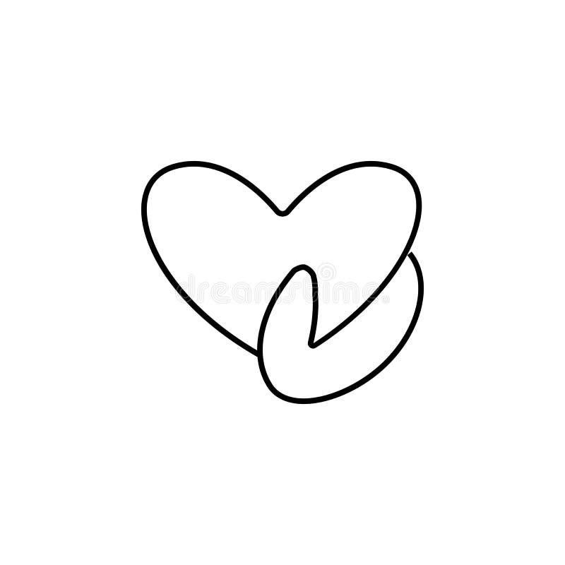 Ikone des Herzens in der Hand Element der Blutspendenikone für bewegliche Konzept und Netz apps Dünne Linie Ikone des Herzens in  lizenzfreie abbildung