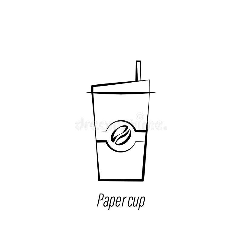 Ikone des Kaffeepapierschalen-Handabgehobenen betrages Element der Kaffeeillustrationsikone Zeichen und Symbole k?nnen f?r Netz,  vektor abbildung