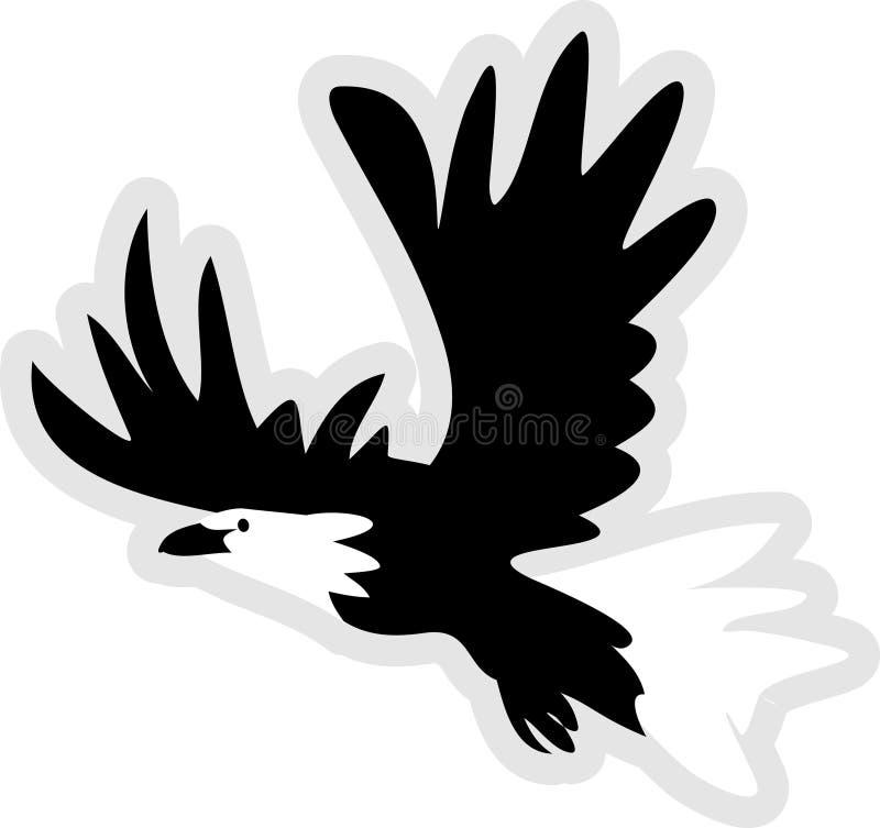 Ikone des kahlen Adlers lizenzfreie abbildung