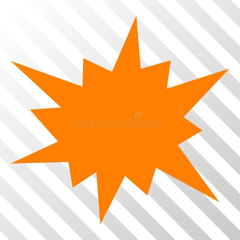 Ikone des Knall-Vektor-ENV stock abbildung