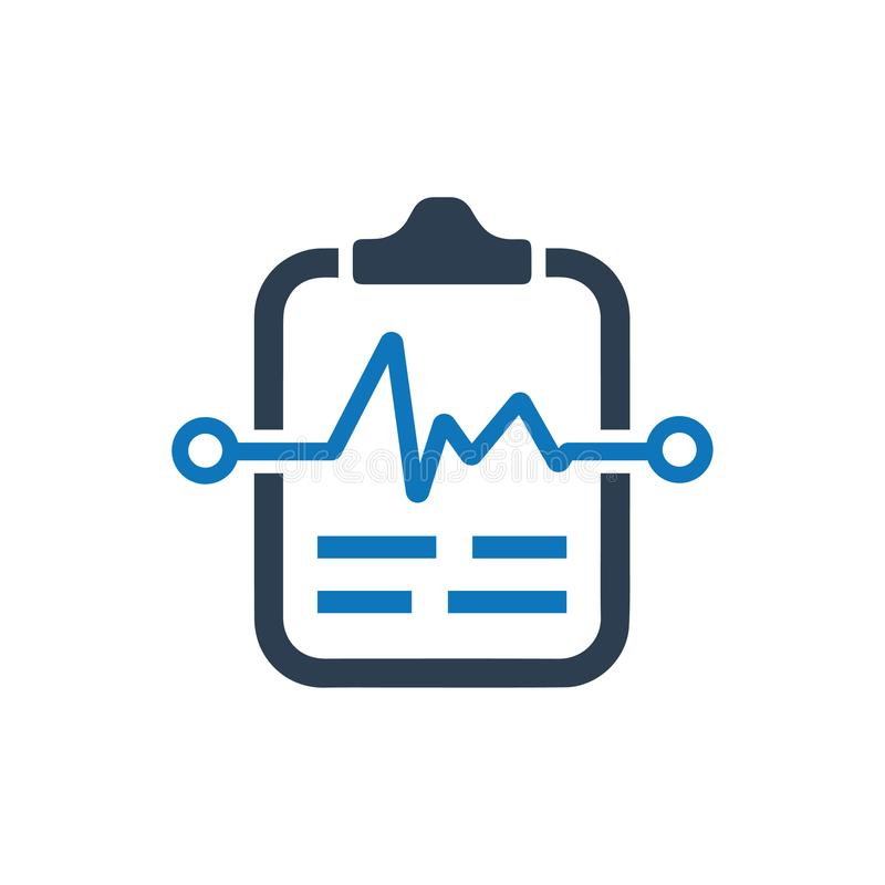 Ikone des medizinischen Tests stock abbildung