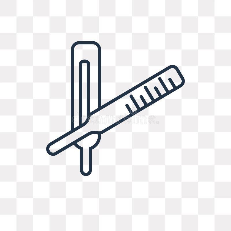 Ikone des messenden Vektors des Fiebers lokalisiert auf transparentem Hintergrund, lizenzfreie abbildung