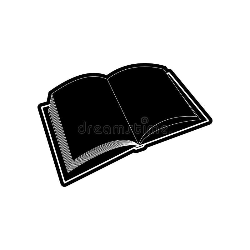 Ikone des offenen Buches Element der Bildung f?r bewegliches Konzept und Netz apps Ikone Glyph, flache Ikone f?r Websiteentwurf u stock abbildung
