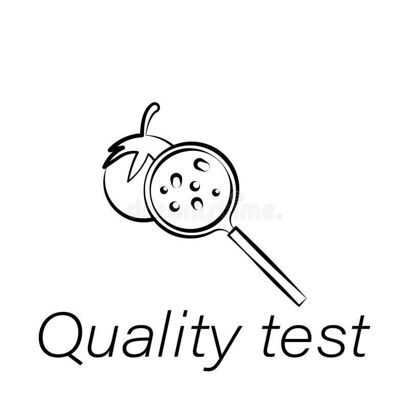 Ikone des Qualitätsprüfungshandabgehobenen betrages Element der Landwirtschaft von Illustrationsikonen Zeichen und Symbole können lizenzfreie abbildung