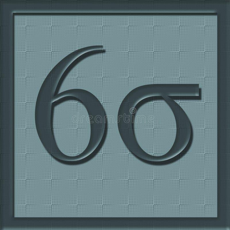 Ikone des Sigma-sechs vektor abbildung