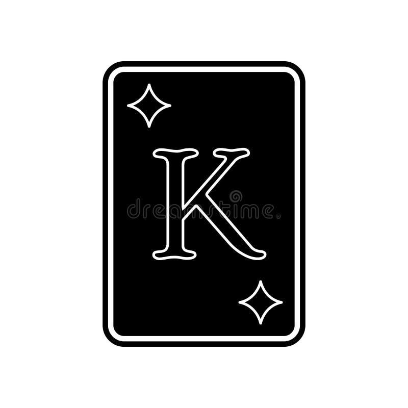 Ikone des Spielkartetamburins K Element des Kasinos f?r bewegliches Konzept und Netz Appsikone Glyph, flache Ikone f?r Websiteent lizenzfreie abbildung