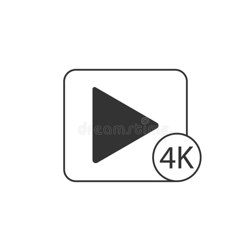 Ikone des Spiels 4K vektor abbildung