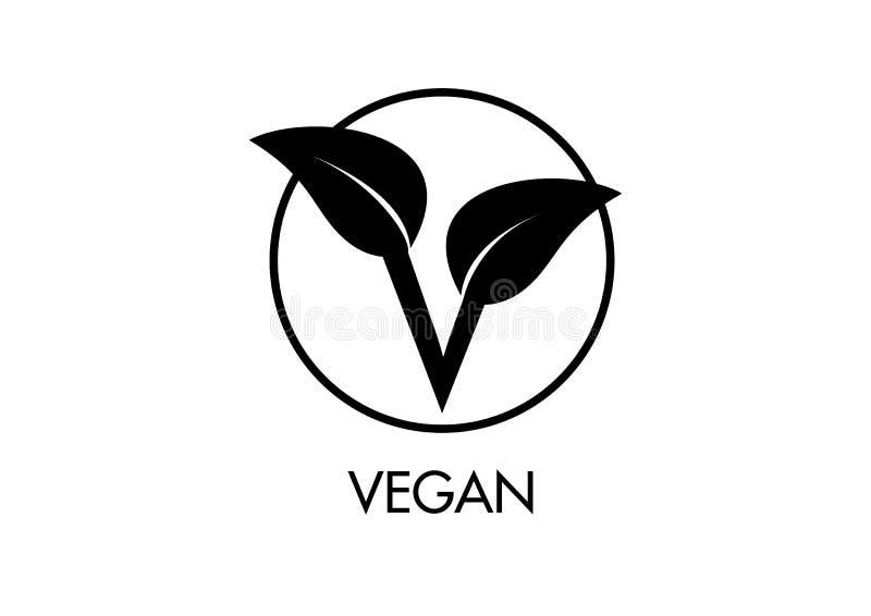 Ikone des strengen Vegetariers Besonders entworfen für kleine Betrachtung lizenzfreie abbildung