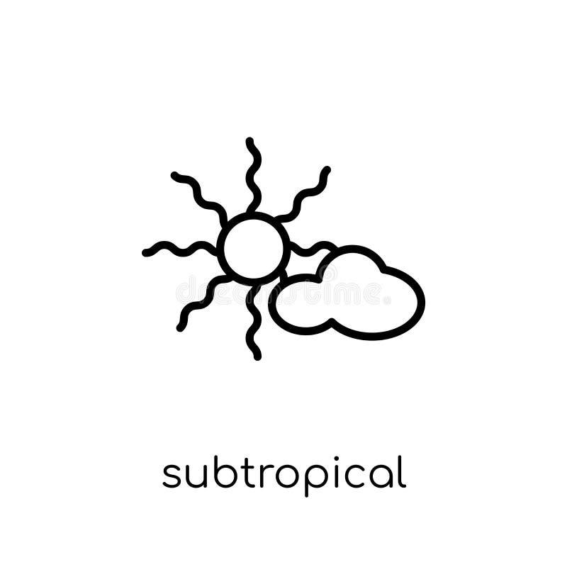 Ikone des subtropischen Klimas von der Wettersammlung lizenzfreie abbildung