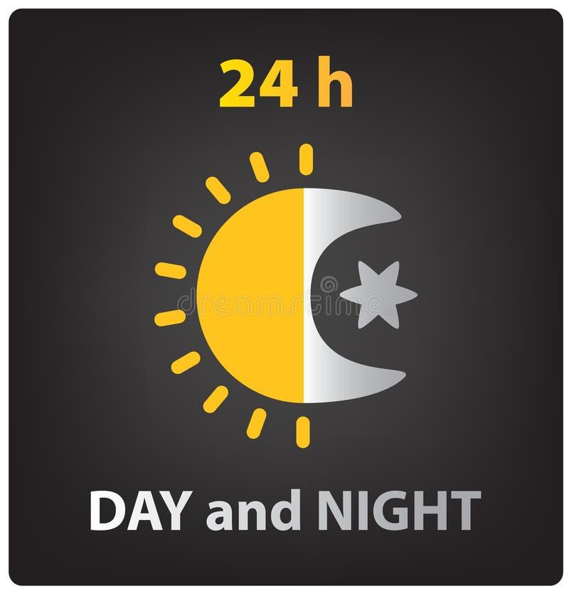 Ikone des Vektors Tag und Nacht lizenzfreie abbildung