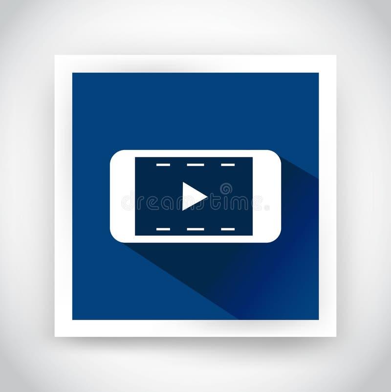 Ikone des Videos für Netz und bewegliche Anwendungen vektor abbildung