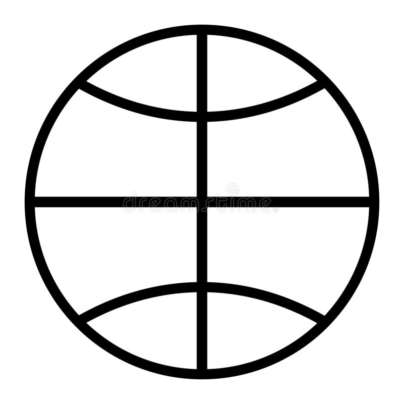 Ikone des weißen Hintergrundes der Erdkugel stock abbildung