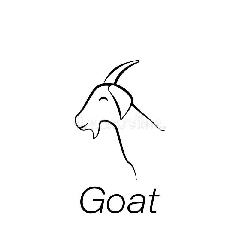 Ikone des Ziegenhandabgehobenen betrages Element der Landwirtschaft von Illustrationsikonen Zeichen und Symbole können für Netz,  vektor abbildung