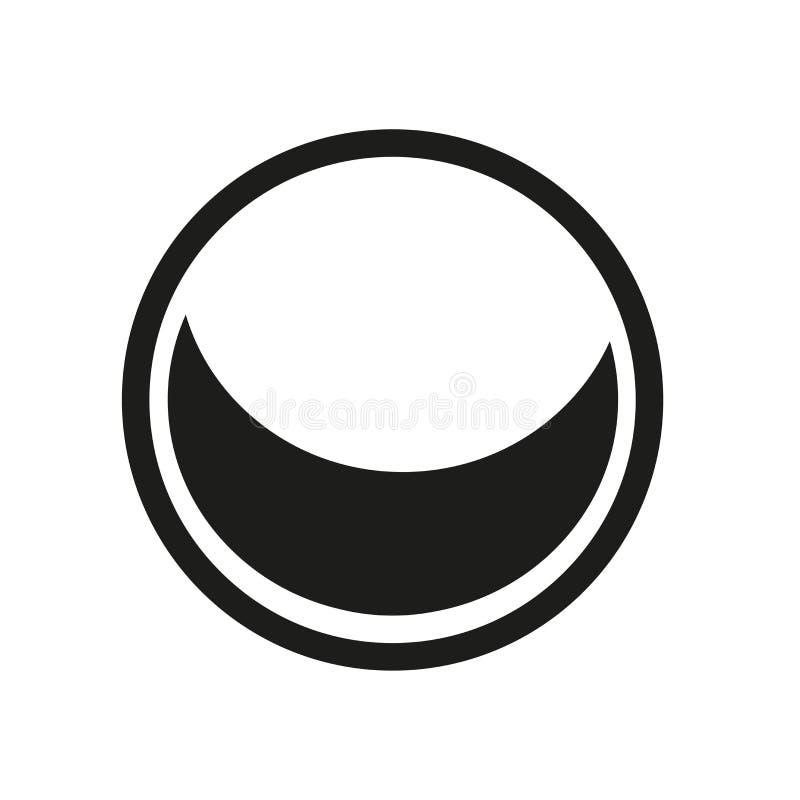 Ikone des zunehmenden Mondes Modisches Logokonzept des zunehmenden Mondes auf weißem backg stock abbildung