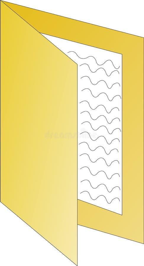 Ikone eines Faltblatts lizenzfreies stockbild