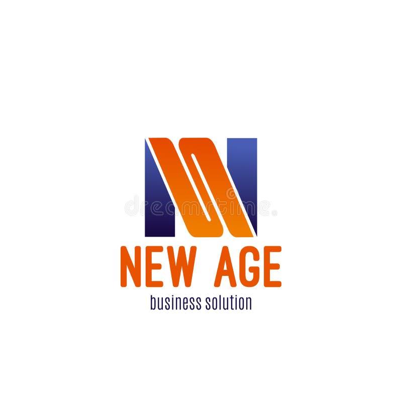 Ikone für Geschäftslösungsfirma stock abbildung