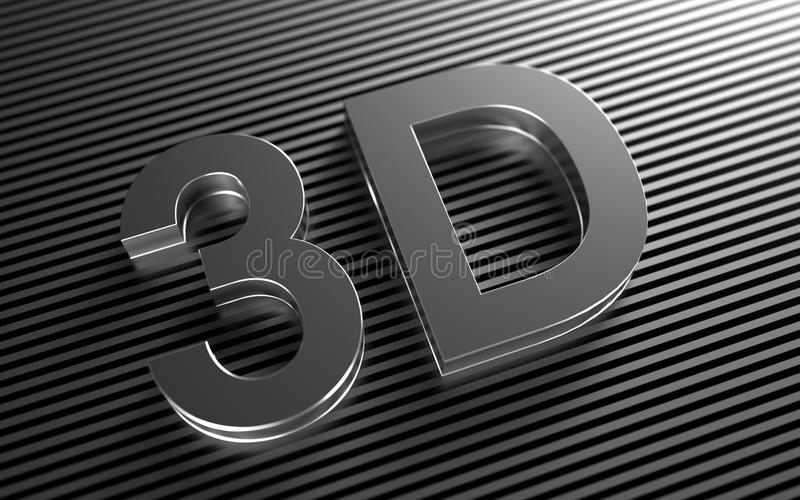 Ikone für Video 3D stock abbildung