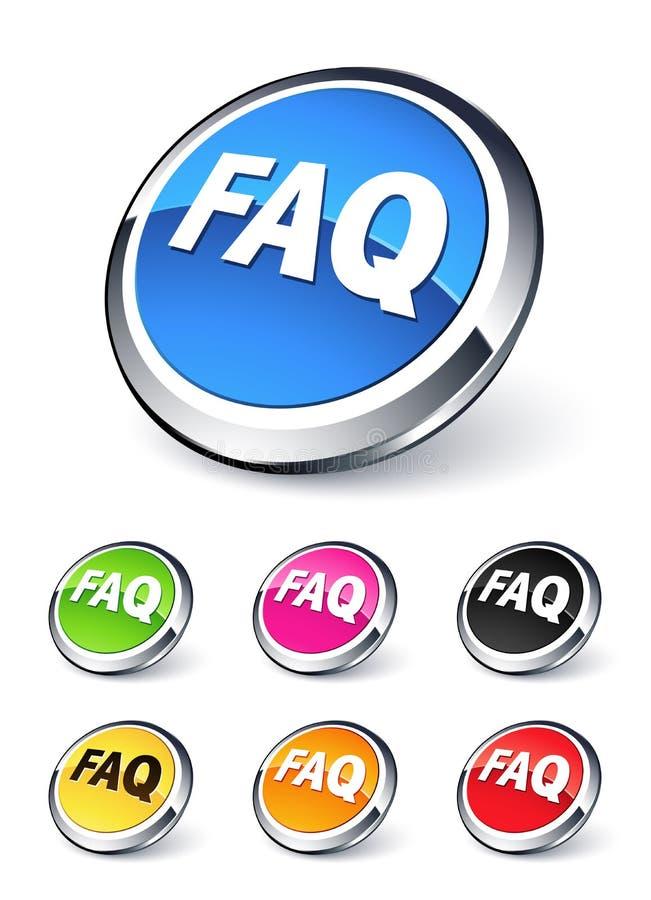 Ikone FAQ vektor abbildung
