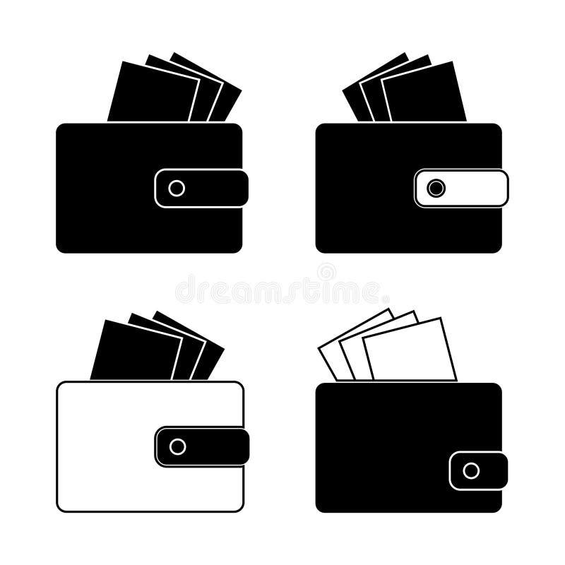 Ikone - Geldbörse mit Rechnungen, Geld Design in vektor abbildung