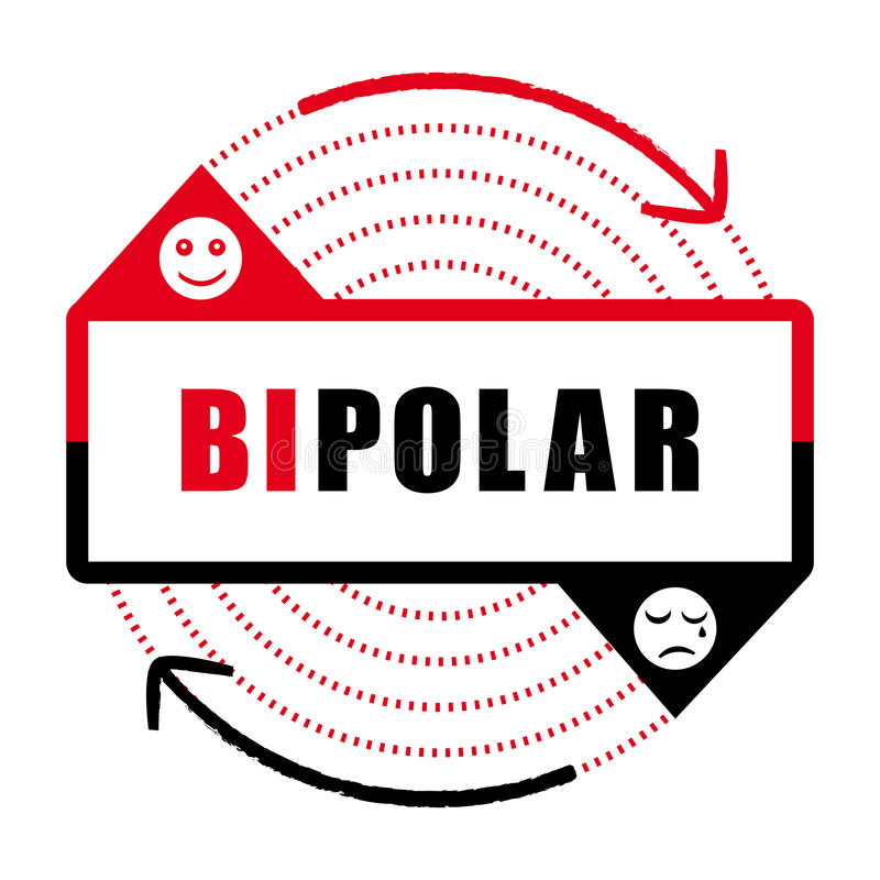 Ikone II der bipolaren Störung Geisteskrankheit lizenzfreie abbildung