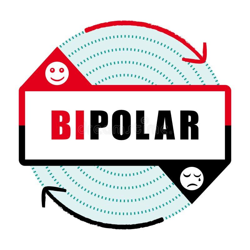 Ikone II der bipolaren Störung Geisteskrankheit stock abbildung