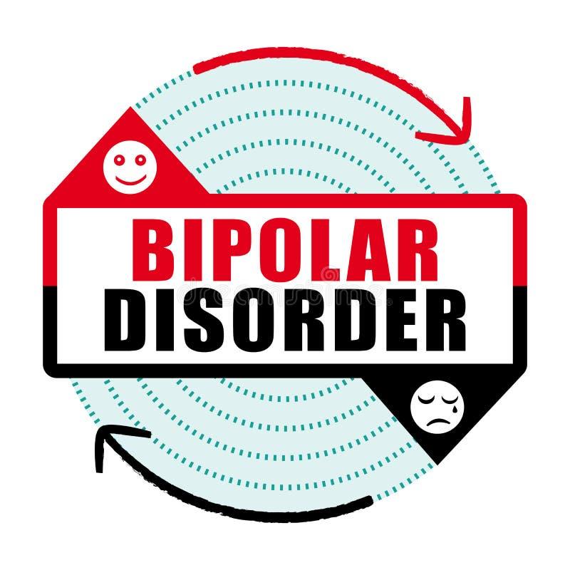 Ikone III der bipolaren Störung Geisteskrankheit stock abbildung