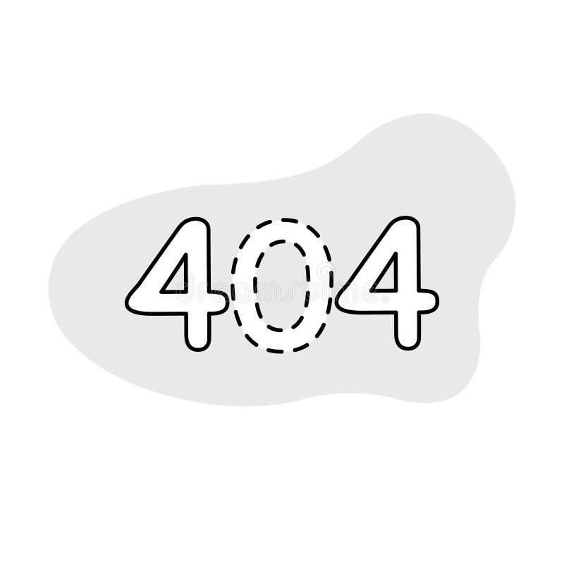 Ikone/Logo des Fehlers 404 Kunstillustration lizenzfreie abbildung