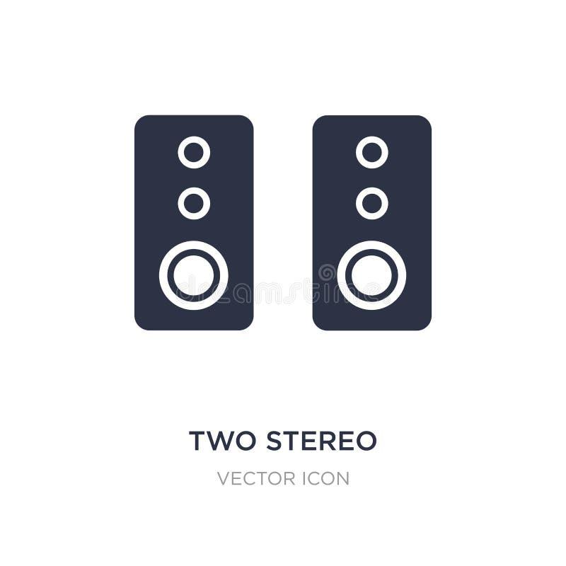Ikone mit zwei Stereosprechern auf weißem Hintergrund Einfache Elementillustration vom Hardware-Konzept lizenzfreie abbildung