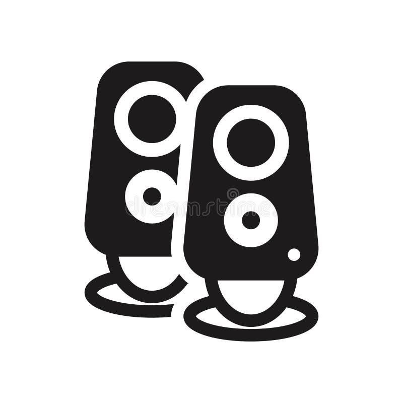 Ikone mit zwei Stereosprechern Modisches concep Logo mit zwei Stereosprechern lizenzfreie abbildung