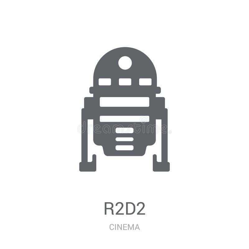 Ikone R2D2 Modisches Konzept des Logos R2D2 auf weißem Hintergrund von Cin lizenzfreie abbildung