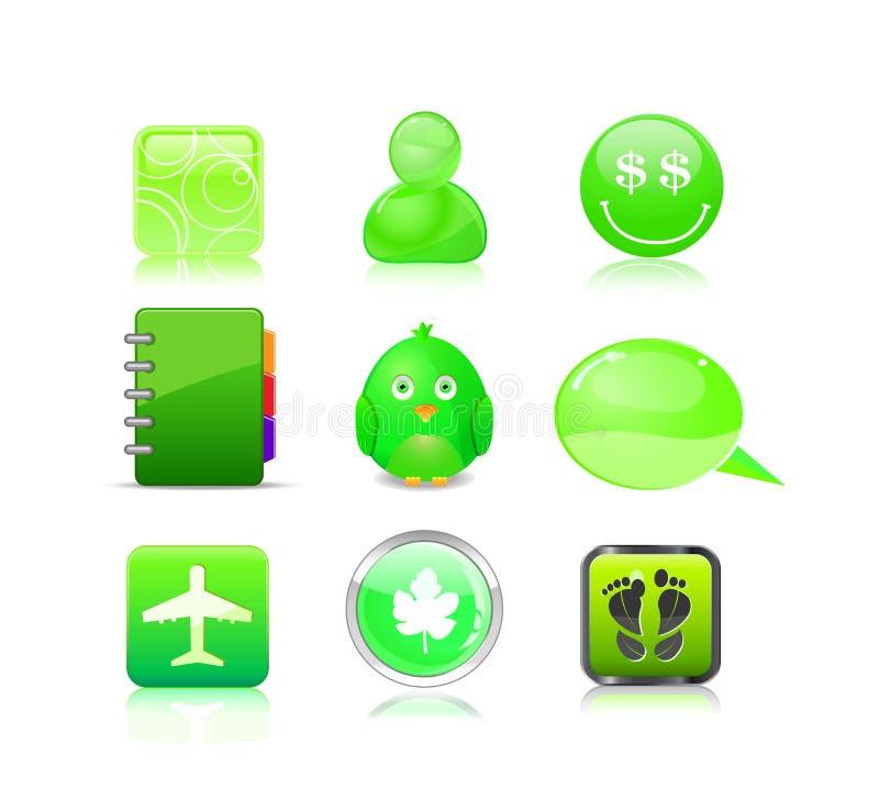 Ikone stellte - Avatara, Lächeln, Anmerkung, Vogel ein lizenzfreie abbildung