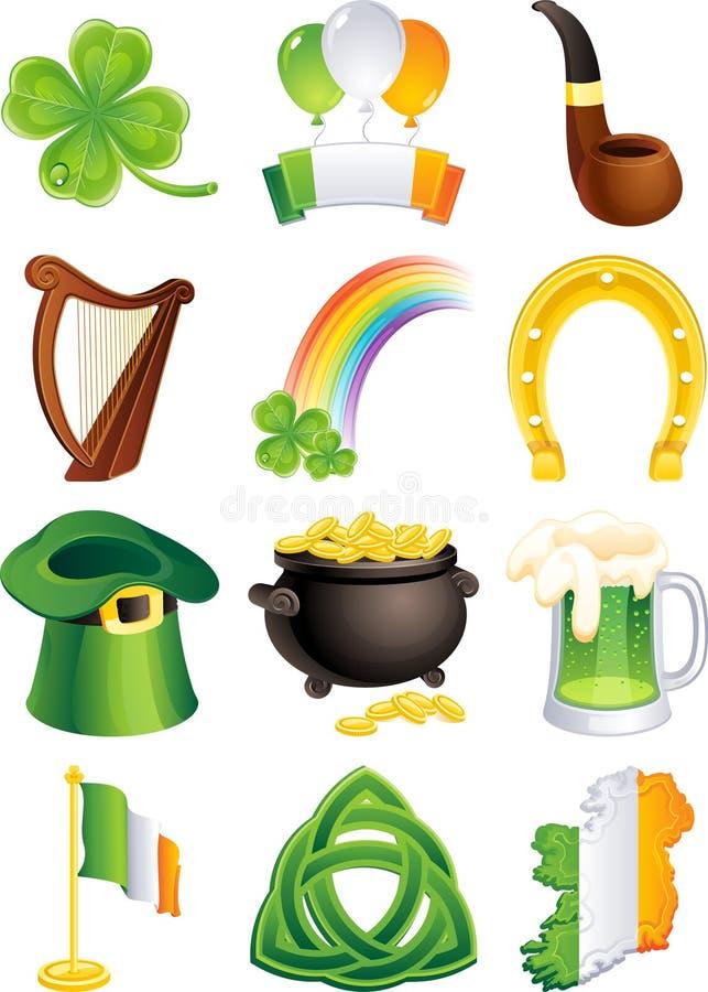 Ikone Str.-Patricks stock abbildung