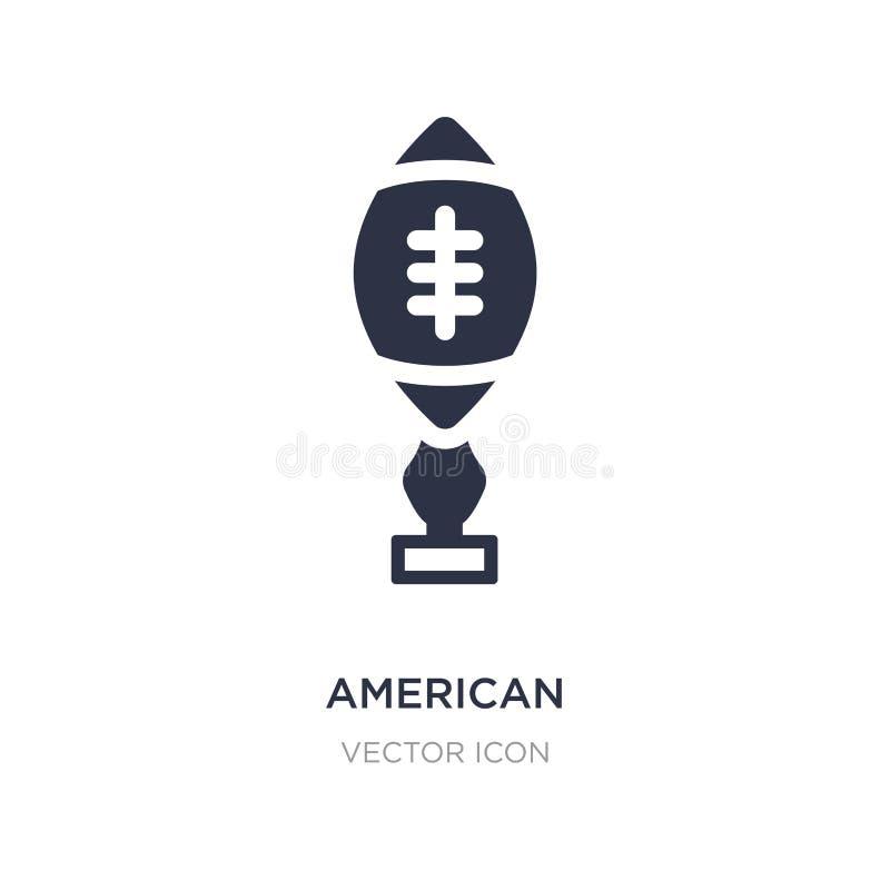 Ikone T-Stück des amerikanischen Fußballs auf weißem Hintergrund Einfache Elementillustration vom Konzept des amerikanischen Fußb lizenzfreie abbildung