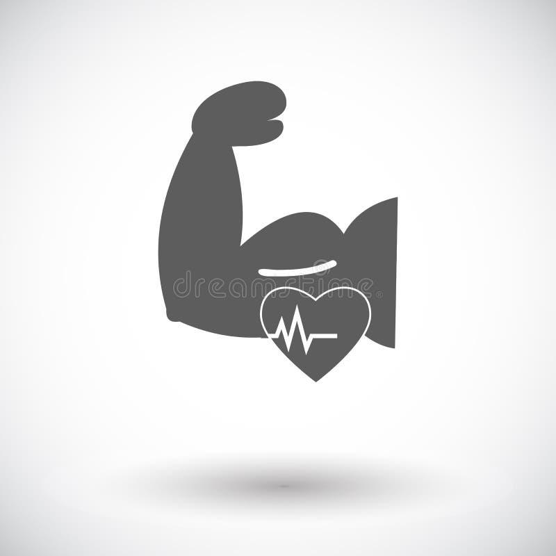 Ikone von Bodybuilding stock abbildung