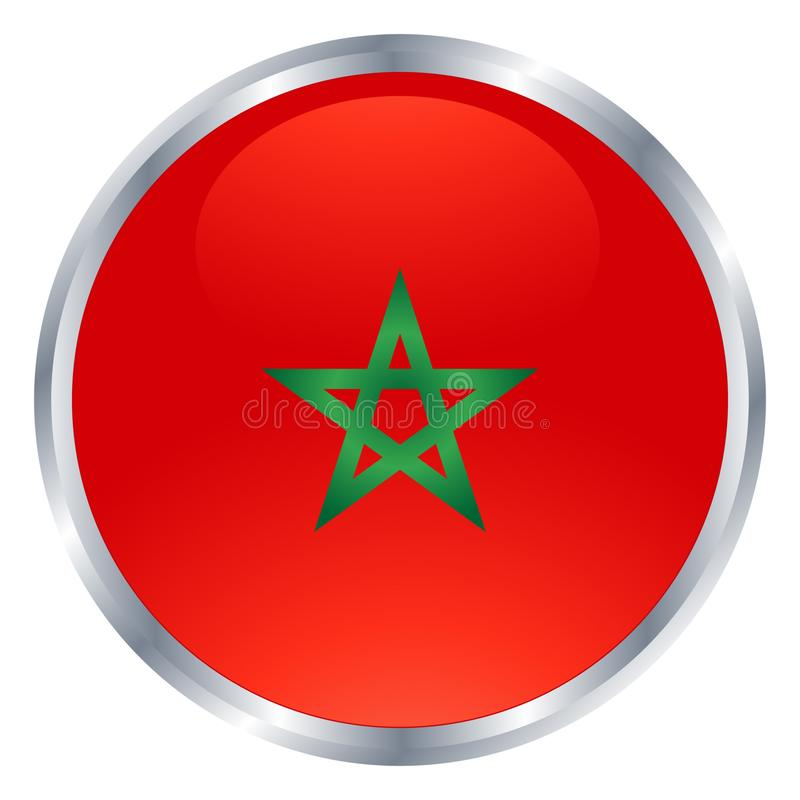 Ikone von Marokko-Flagge stockbilder