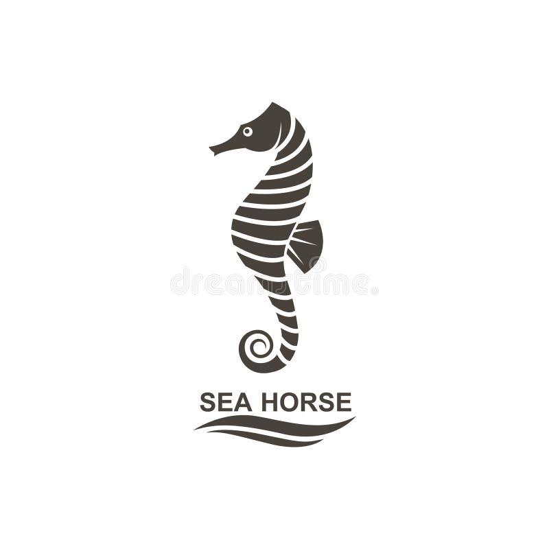 Ikone von Seahorse stock abbildung