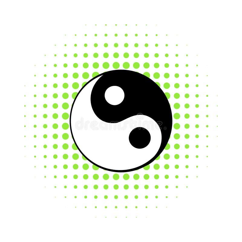 Ikone Ying Yang, Comicsart stock abbildung