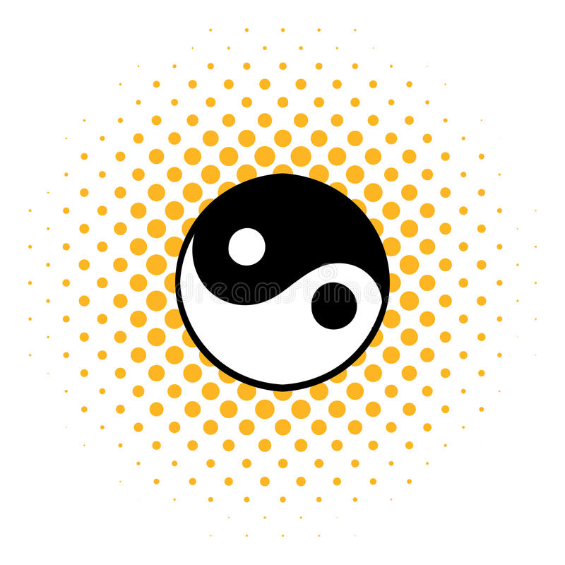 Ikone Ying Yang, Comicsart vektor abbildung