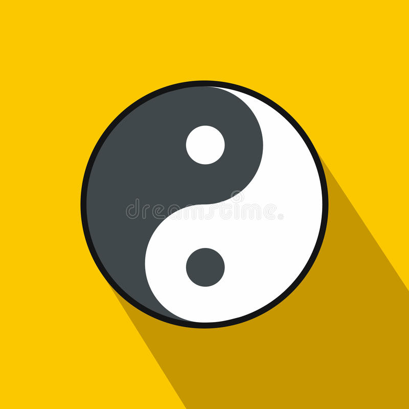 Ikone Ying Yang, flache Art vektor abbildung