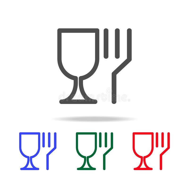 Ikonen auf der Mikrowellenikone Elemente der Reinigung in den multi farbigen Ikonen Erstklassige Qualitätsgrafikdesignikone Einfa vektor abbildung