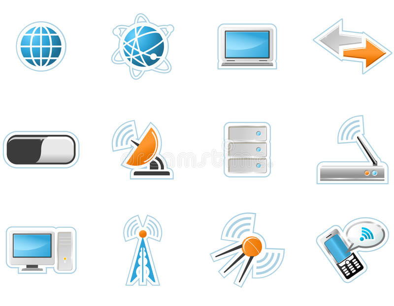 Ikonen der drahtlosen Technologie