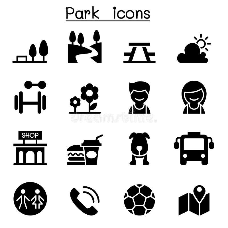Ikonen des allgemeinen Parks stock abbildung