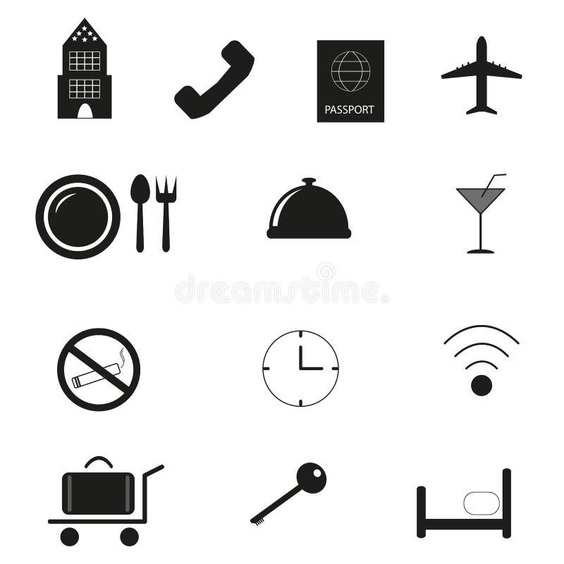 Ikonen des Hotels stock abbildung