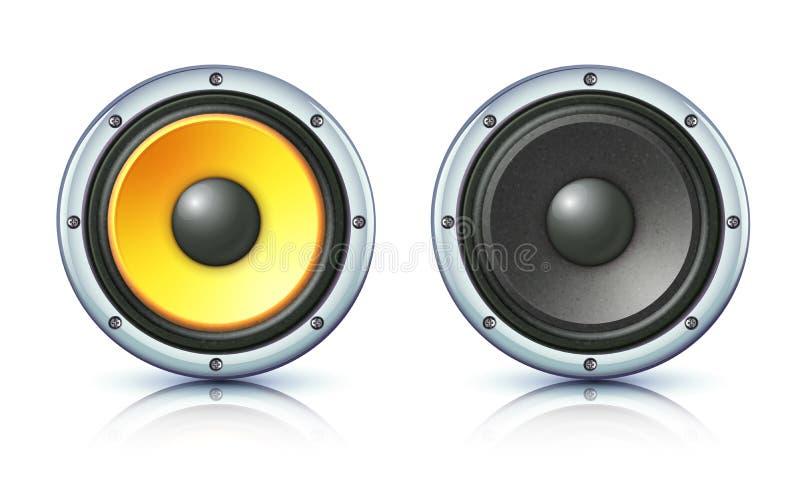 Ikonen des lauten Lautsprechers vektor abbildung