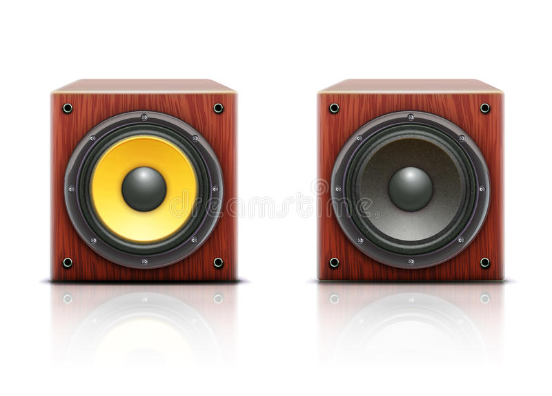 Ikonen des lauten Lautsprechers stock abbildung
