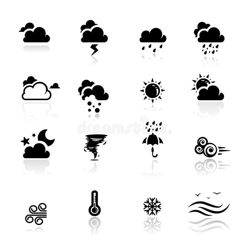 Ikonen eingestelltes Wetter lizenzfreie abbildung