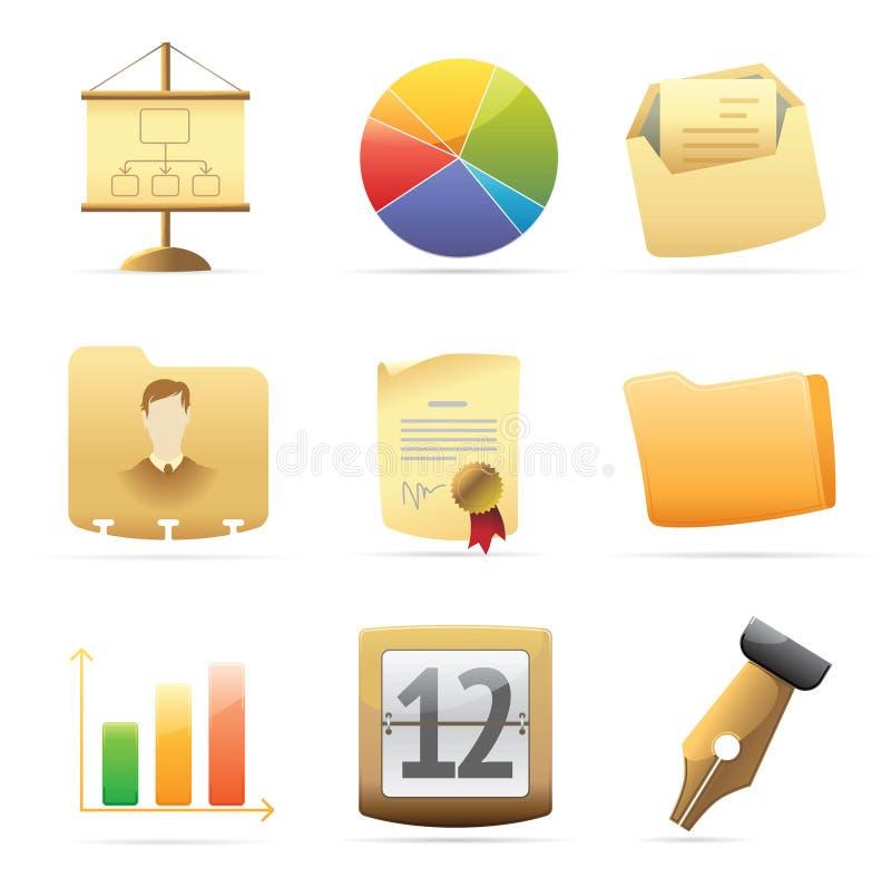 Ikonen für Büro vektor abbildung