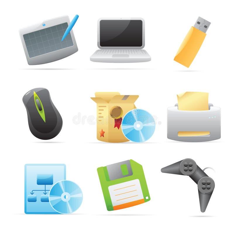 Ikonen für Computer stock abbildung
